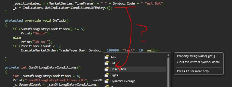 Symbol.Code doesn't appear in intellisense, but compiles fine?