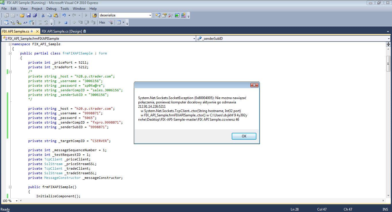 cTDN Forum - FIX API example Send Heartbeat