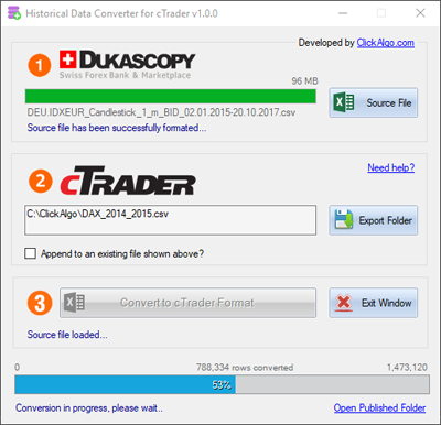 cTrader Backtest Data Wizard Robot | Algorithmic Forex